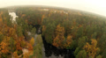 River and autumn wood. Landscape. Aerial clip HD Footage