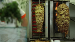 Frying Meat for Shawarma Stock Footage