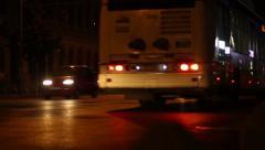 Night Avenue Rush Traffic Stock Footage