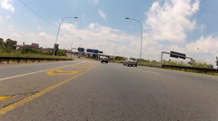 Driving along the M2 highway in Johannesburg Stock Footage
