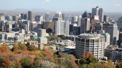 Montreal Skyline Pan Stock Footage