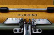 Stock Photo of blogging concept