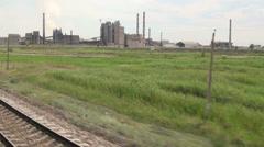 Old Soviet Union industry in Kazakhstan Stock Footage