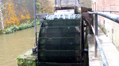 Old water mill. Stock Footage