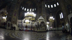 St. Alexander Nevsky cathedral in Sofia, Bulgaria Stock Footage