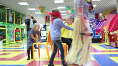 Stock Video Footage of Recognize the child sat down to you. Kids party