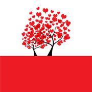valentine's day card - stock illustration