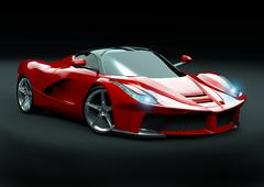 La Ferrari supercar 2013 restyled - stock illustration
