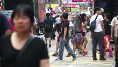 Shopping in Mongkok, Hong Kong Stock Footage