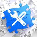 Puzzle Pieces: Service Concept. Stock Illustration