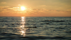 Time lapse. sunset over the sea. Stock Footage