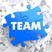 Team.  Puzzle Business Concept. Stock Illustration