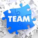 Stock Illustration of Team.  Puzzle Business Concept.