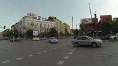 Traffic in Sofia, Bulgaria Stock Footage