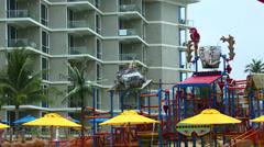 Aquapark - stock footage