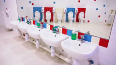 Preschool Washroom - stock footage