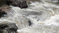 Stock Video Footage of Murky Creek Water