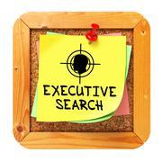Stock Illustration of Executive Search. Yellow Sticker on Bulletin.