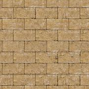 Seamless Tileable Texture of Coquina Wall. - stock photo