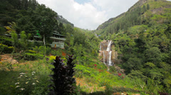 Big mountain waterfall. sri lanka, nuwara eliya, ramboda Stock Footage