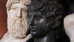 Ancient Greek miniatures. - stock footage