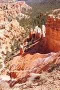 Elaborately eroded pinnacles and hoodoos Stock Photos