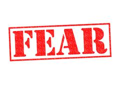 FEAR rubber stamp Stock Illustration