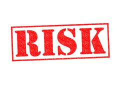 RISK rubber stamp - stock illustration