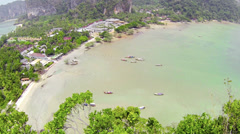 Railay beach from top view point. thailand, krabi Stock Footage