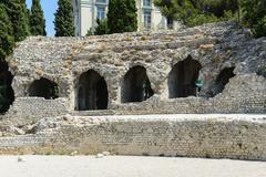 cimiez arenas roman ruin in nice france - stock photo