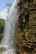 Castle hill waterfall in nice france Stock Photos