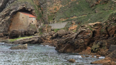 Old House on the Coast of Cantabria / Spain Stock Footage