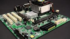Motherboard with CPU Stock Footage