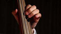 woman playing the contrabass 3 - stock footage