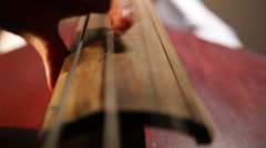 woman playing the contrabass 1 - stock footage