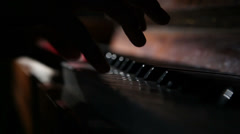 Woman playing the piano 7 Stock Footage