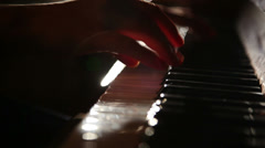 woman playing the piano 5 - stock footage