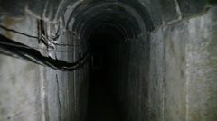 Gaza Terror Tunnel Uncovered on Israeli Side of the Security Fence Stock Footage