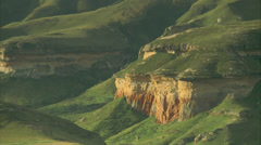 Cliffs inside Golden Gate National Park Stock Footage