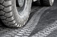 Stock Photo of truck wheel