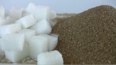 Brown and White sugar Stock Footage