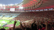 Stock Video Footage of Football Fans at Maracana Stadium, Rio de Janeiro