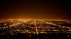 Time Lapse of Los Angeles from Griffith Observatory Stock Footage