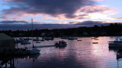 Lobster boats in Bass Harbor, Maine Stock Footage