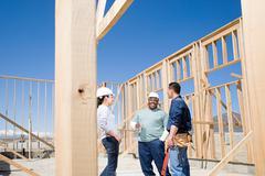 Builders taking a break Stock Photos