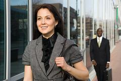 Businesspeople walking - stock photo