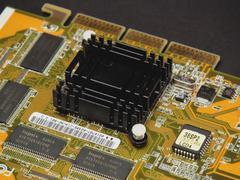 Close up of GPU heatsink 2 - stock photo