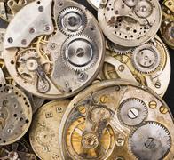 Kulta hopea tarkkuus antiikki vintage taskukellon elinten osien vaihdetta Kuvituskuvat