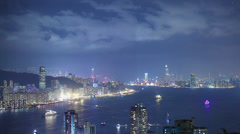Hong Kong architecture. Timelapse Stock Footage