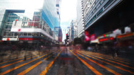 Road in Hongkong. Timelapse Stock Footage